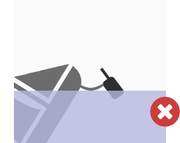 Incorrect deployment: beacon is attached to a boat that is sinking.